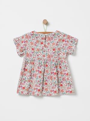 Блуза белая в принт | 5372118