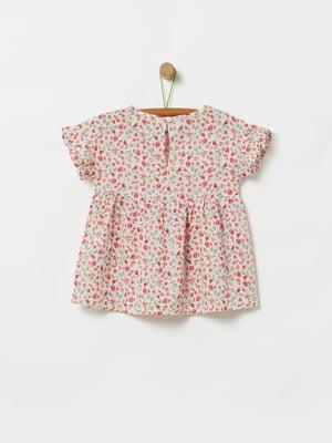 Блуза рожева в принт | 5372119