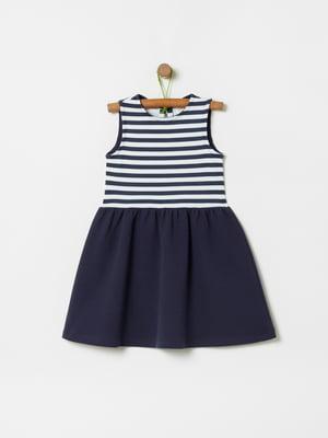 Платье сине-белое в полоску | 5372243