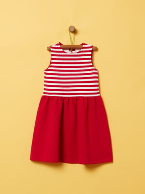 Сукня червоно-біла в смужку | 5372327