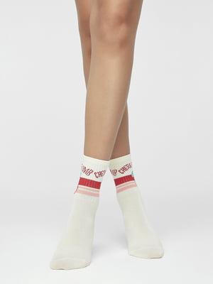Носки белые в принт   5319310