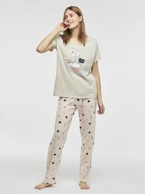 Пижама: футболка и брюки | 5372663