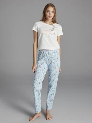 Пижама: футболка и брюки | 5372668