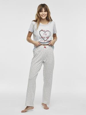 Пижама: футболка и брюки | 5372671
