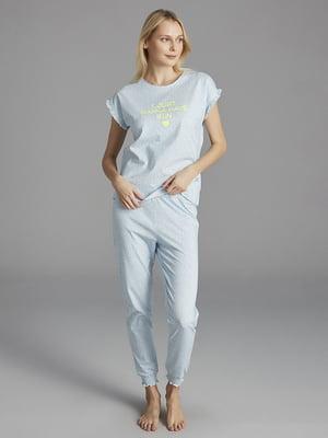 Пижама: футболка и брюки | 5372693