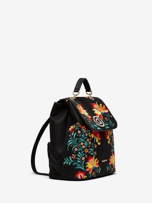 Рюкзак черный в принт | 5369061