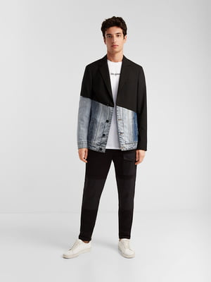Пиджак черно-синий | 5369129