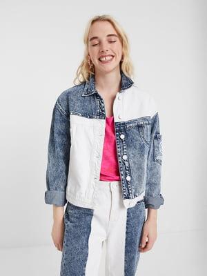 Куртка біло-блакитна | 5369246