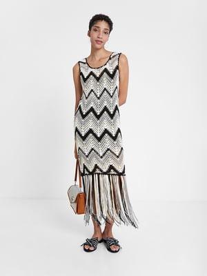 Платье в орнамент-полоску | 5369349