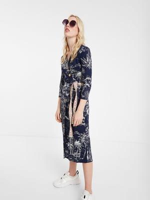 Платье синее в принт | 5369351