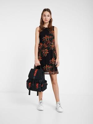 Платье черное в принт | 5369358