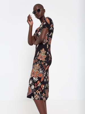 Платье черное в принт | 5369362