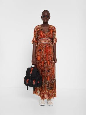 Платье коричневое в принт | 5369366