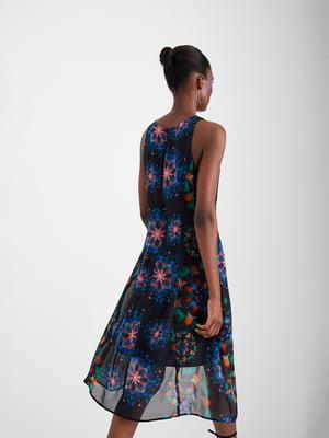 Платье синее в принт | 5369368