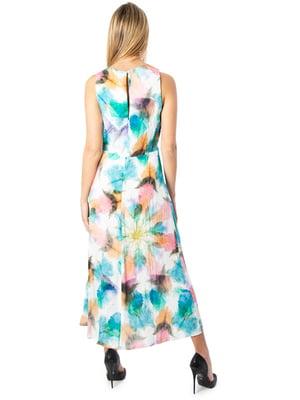 Платье белое в принт | 5369369