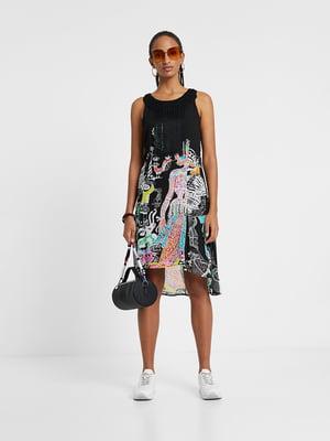 Платье черное в принт | 5369370