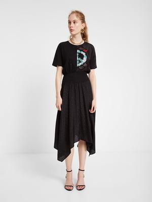 Сукня чорна з декором | 5369373