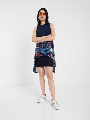 Платье синее в принт | 5369379