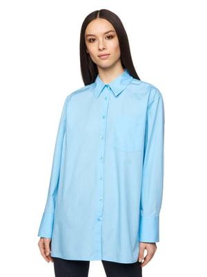 Рубашка голубая | 5321122