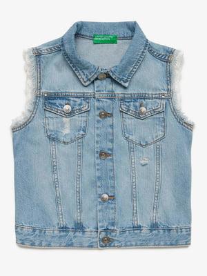 Жилет блакитний джинсовий | 5371130