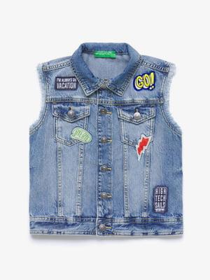 Жилет голубой джинсовый | 5371131