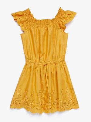 Платье горчичного цвета | 5371334