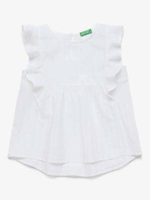 Блуза біла в смужку | 5371383