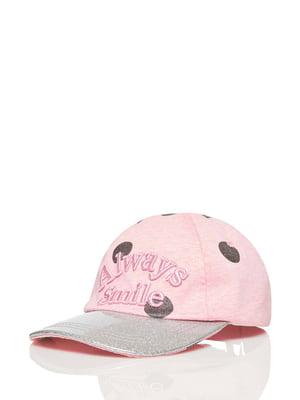 Бейсболка рожева в горох | 5371397