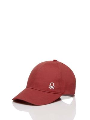 Бейсболка бордовая | 5371403