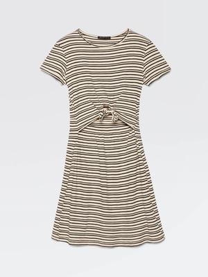 Платье бежевое в полоску | 5371451