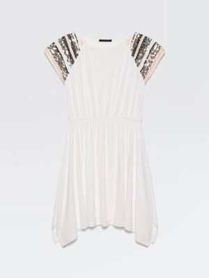 Платье белое с декором | 5371452