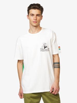 Футболка біла з принтом | 5371632