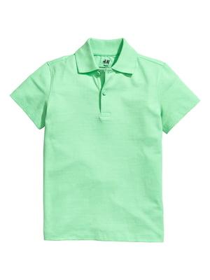 Футболка-поло зелена | 5374624