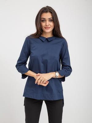 Блуза синяя | 5374630