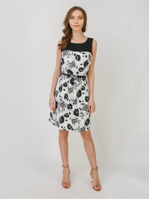 Платье белое в принт | 5374773
