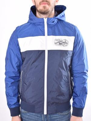 Куртка синяя с принтом | 5369449