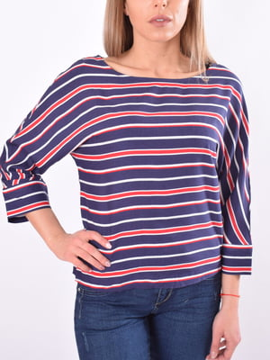 Блуза темно-синяя в полоску   5369552