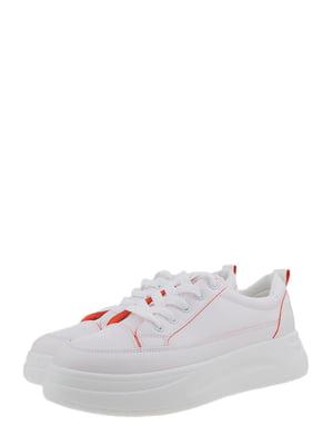 Кроссовки бело-оранжевые | 5366392
