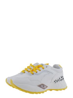 Кроссовки бело-желтые | 5367645