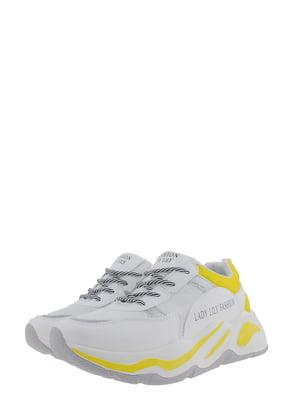 Кроссовки бело-желтые | 5367646