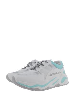 Кроссовки бело-голубые | 5367648