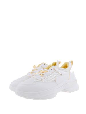 Кроссовки бело-желтые | 5367654
