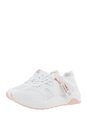 Кроссовки бело-розовые | 5367656