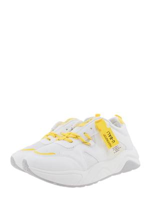 Кроссовки бело-желтые | 5367658