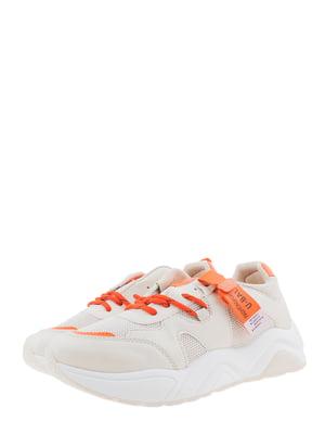 Кроссовки бежево-оранжевые | 5367659