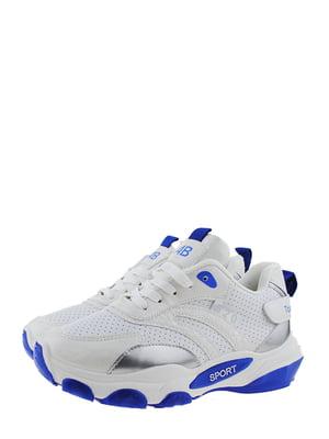 Кроссовки бело-синие | 5367672