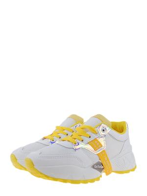 Кроссовки бело-желтые | 5367695