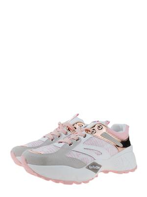 Кроссовки бело-розовые | 5367697