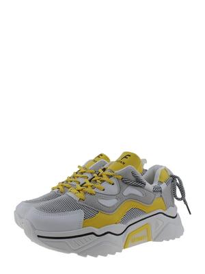 Кроссовки серо-желтые | 5367701