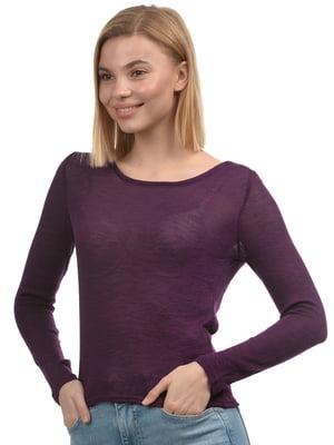 Лонгслив фиолетовый | 5375659